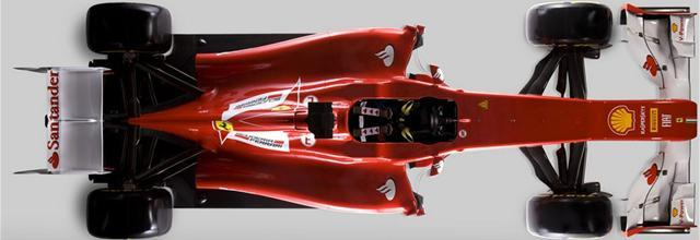 Ferrari 2012 car top view