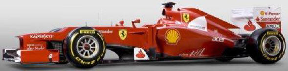 Ferrari 2012 Car Side View